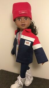 """TEAM USA 2018 Winter Olympics Outfit for your 18"""" Journey Girl Doll"""
