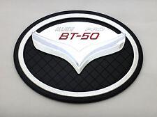 CHROME + BLACK FUEL CAP TANK TRIM COVER FOR PICK UP NEW MAZDA BT-50 PRO 2012 V.5