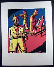 Loustal Sérigraphie Jazz trio Numérotée et signée TTBE