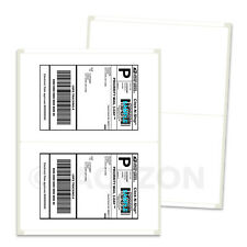 300 Shipping Labels 85x55 Rounded Corner Self Adhesive 2 Per Sheet Packzon
