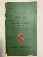 Rare Enlarged Deluxe-Edition Instructions Manual Singer 319 319k 319w Sewing