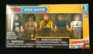 Make-It Blocks - Dino World - 5 Figure Piece Set - Leading Brand Compatible