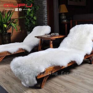 Double Genuine Fur Sheepskin Rug Real Fur Long Wool Floor Carpets Mat Rugs