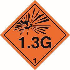 Health and Safety Hazard Sticker Explosive 1.3G Sticker Orange