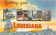 Large letter postcard Greetings from New Orleans Louisiana NOLA