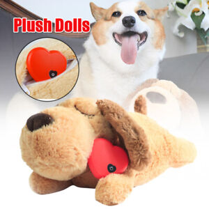 Plush Puppy Behavioral Aid Toy Living Room Dogs Cats With Heartbeat Puppy Toy AU