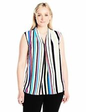 Nine West Women's V Neck Striped Cami- Candy Multi Size Small