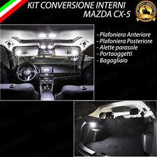 KIT FULL LED INTERNI MAZDA CX-5 CX5 CONVERSIONE COMPLETA 6000K + LUCI TARGA LED