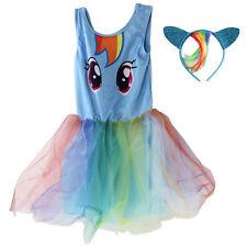 My Little Pony Kids Girls Fancy Blue Party Tutu Dress and Headband Set 3-4 Years