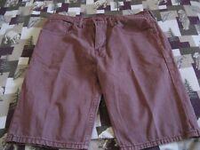 Men Levi's Strauss 508 ~ Denim Shorts ~ Size 34 ~ Medium Burgundy Color