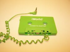 iWorld car connecting Cassette Adapter Mp3 Cd Genuine Green Audio Tape Used