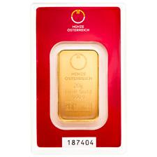 Goldbarren 20g 999,9 Feingold Münze Österreich originalverpackt