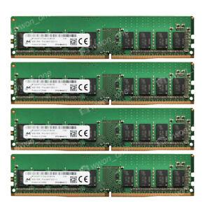 Micron 32GB 4X8GB 1Rx8 PC4-19200E 2400MHz 288P 1.2V Unbuffered ECC UDIMM Memory