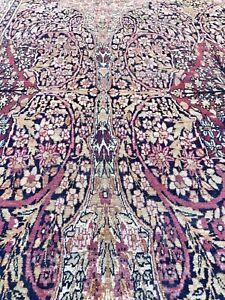 Auth: 19th C Antique Lavar Kermanshah  RARE Butterfly Collectors Beauty 11x15 NR