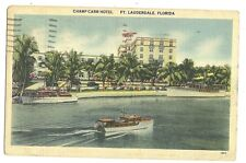 Champ Carr Hotel Ft Lauderdale Florida FL Postcard
