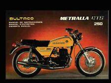 BULTACO METRALLA OPERATIONS MAINTENANCE MANUAL for GTS 250 Cemoto Motorcycles