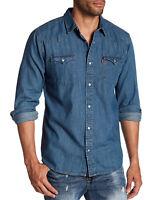 Levi's Men's Classic Barstow Western Pearl Snap Casual Denim Dress Shirt