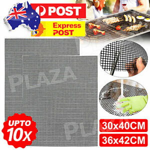 Landen BBQ Mesh Grill Mat Non-Stick Liner Cooking Barbecue Sheet Wire Baking Pad