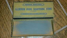 Vintage Norton Aluminum Oxide Sharpening Stone 4-1/2 X 2 Inches In Original Box