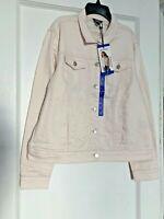 Buffalo David Bitton Knit Denim Light Pink Jacket New with Tags - Size Large