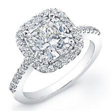 2.73 Ct. EGL Cushion Cut Diamond Engagement Ring I, SI1