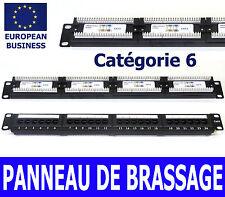24 ports 1U panneau de brassage catégorie cat 6 utp équipé montable en rack 19 pouces