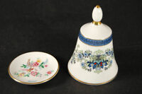 Danbury & Franklin Mint 2 pc Lot ROYAL DOULTON Miniature Plate & Bell Bone China