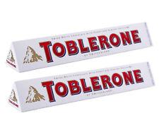 Lot de 2 toblerone de 360 grammes au chocolat blanc, produit livré neuf emballé