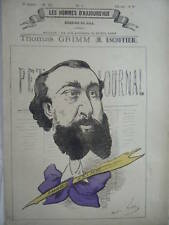 POCHOIR GILL 19ème  ESCOFFIER THOMAS GRIMM JOURNALISTE ECRIVAIN NE A SERIGNAN