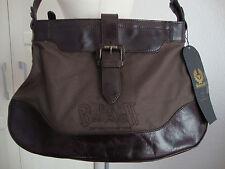 BELSTAFF ELLEN BAG Damen Shopper Tasche Schultertasche Leder/Canvas NEU ETIKETT