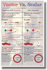 Vector Vs Scalar  - NEW Classroom Math Poster