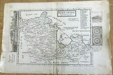 More details for antique map of berkshire by herman moll c1730 rare uncoloured as published