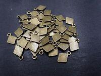 5-10-20 FILIGREE Vintage Ornament RAUTE Bronze 23x30mm Filigran p00930x3