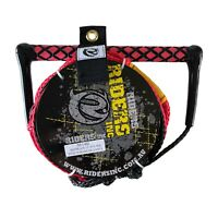 "Riders Inc Water Ski Kneeboard Tow Rope with EVA 13"" Handle RED"