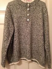 Tog Shop XXL black and white knit sweater