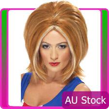 Spice Girls Ginger Bob Power Womens Wig Blonde 80s 90s Pop Star Costume Wigs