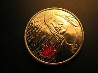 Canada  2012 War Of 1812 Hero Tecumseh  coloured 25 Cent Coin.