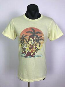 Walt Disney World Mens Chip & Dale Character Cotton T-Shirt Shirt Tee Size S