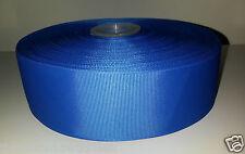 """1 METRO 50mm (2 """") di larghezza ROYAL BLU SOLIDO nastro di seta grossa CAPELLI FIOCCHI Millinery TRIM"""