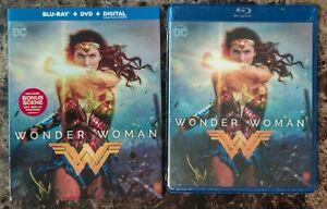 NEW Wonder Woman (Blu-ray + DVD + Digital Copy, 2017, 2-Disc Set w Slipcover)