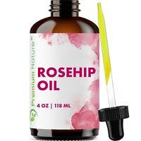 Organic Rosehip Oil 4 oz Skin Care Moisturizer Scar Removal & Facial Acne