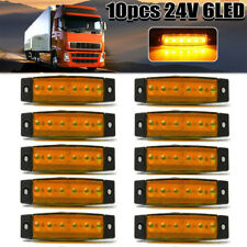 10 x 6 LED 24V Orange Amber Side Marker Indicators Lights Trailer Truck Lamp New