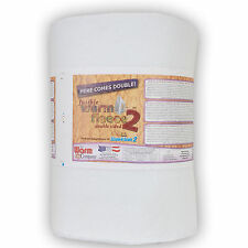 """2 sided Fusible Fleece Quality Wadding Batting Quilt Craft 45"""" Wide Warm Company"""