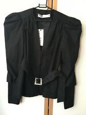 ZARA Black Puff Sleeve Jacket with Jewel Belt Size XS  6 8