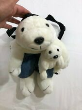 "Coca-Cola Co. 16"" Polar Bear And Cub Child Plush Knapsack /Backpack Vintage 1997"