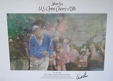 Arnold Palmer Signed 17x24 Lithograph Us Open Cherry Hills