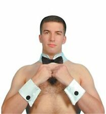 Male Stripper Waiter Butler 3 pc Set Bow Tie Collar and Cuffs Fancy Dress Stag