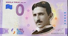 BILLET 0  EURO NIKOLA TESLA 02  COULEUR 2021 NUMERO DIVERS