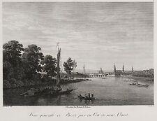 Dresda-Veduta generale-Vue générale-Johann Philipp Veith-ACQUAFORTE 1808
