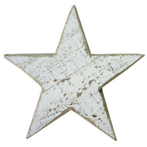 White Wooden Star Shaped Ornament Christmas Decoration By All Chic